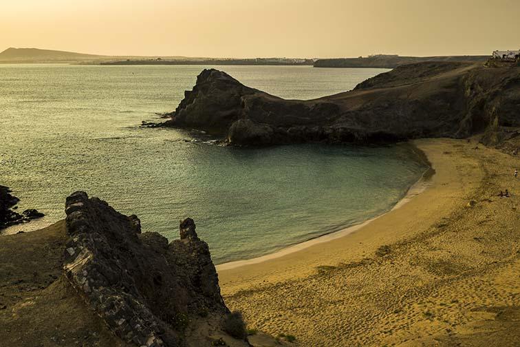 Tramonto con calima a Playa Papagayo